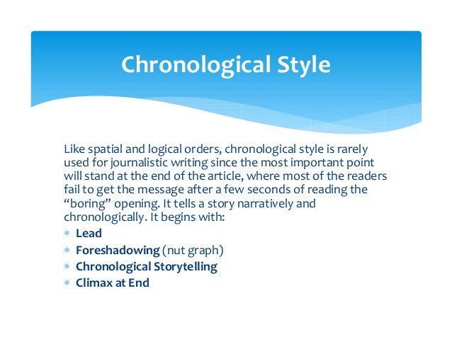 LeadForeshadowingChronologicalStorytellingClimaxChronologicalStyleDiagram