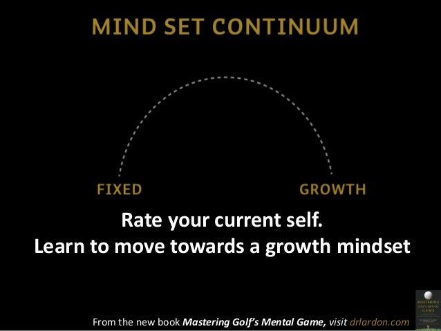 Rate your current self.  Learn to move towards a growth mindset  From the new book Mastering Golf's Mental Game, visit drl...