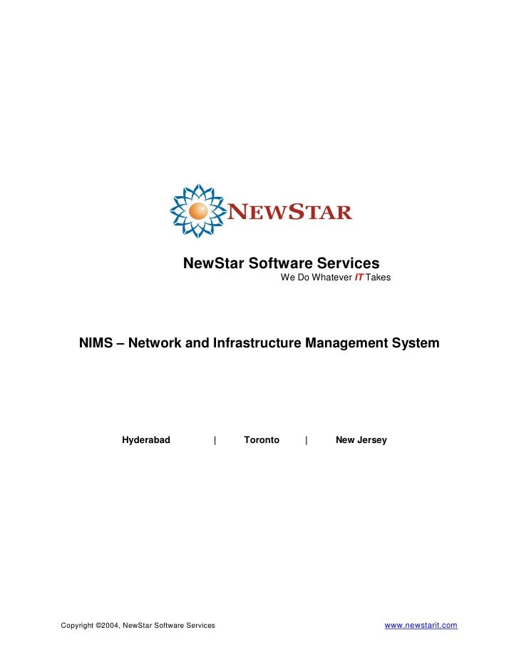 NewStar Software Services                                                        We Do Whatever IT Takes         NIMS – Ne...