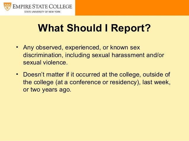 Student orientation on sexual harassment