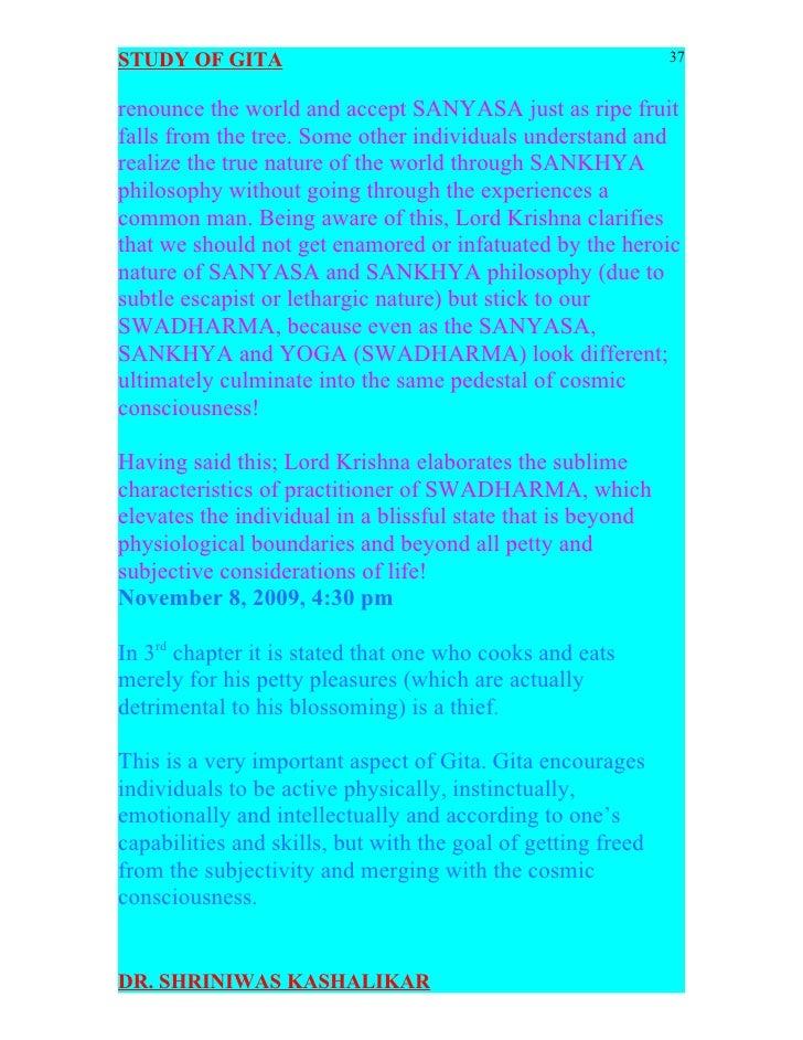 Bhagavad Gita Flashcards | Quizlet