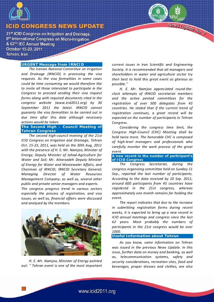 URGENT Message from IRNCID                             current issues in Iran Scientific and Engineering     The Iranian N...