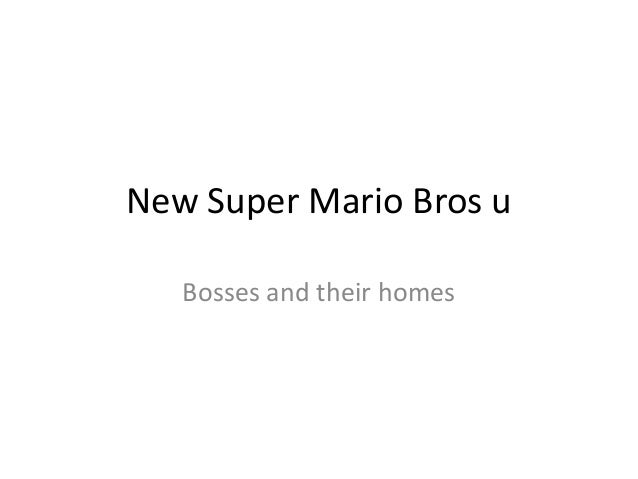 New Super Mario Bros u   Bosses and their homes