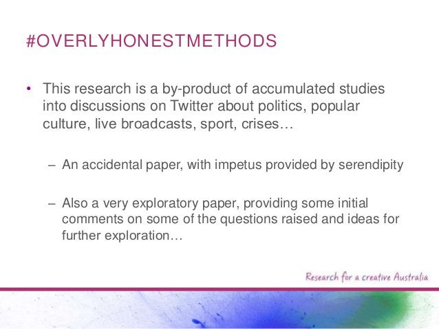 #OVERLYHONESTMETHODS • This research is a by-product of accumulated studies into discussions on Twitter about politics, po...