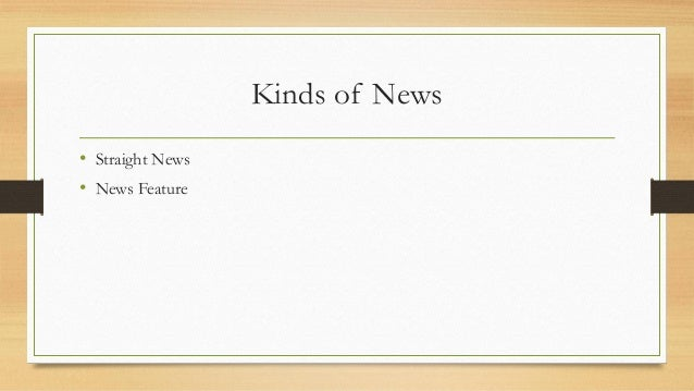 News writing types of characters