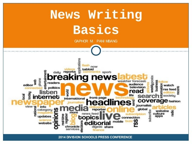 Tips on Writing a News Report