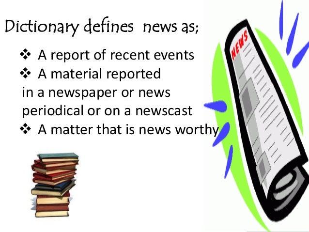 News writing presentation Slide 3