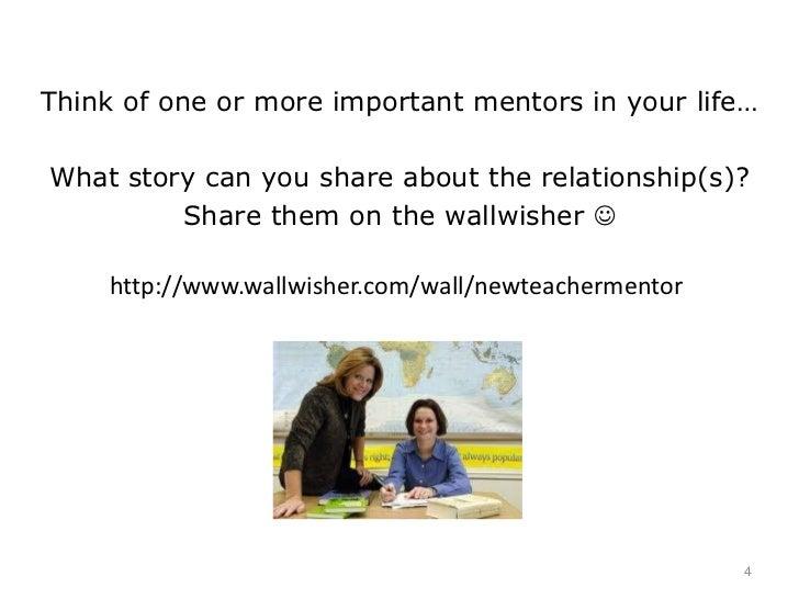 new teacher and mentor relationship