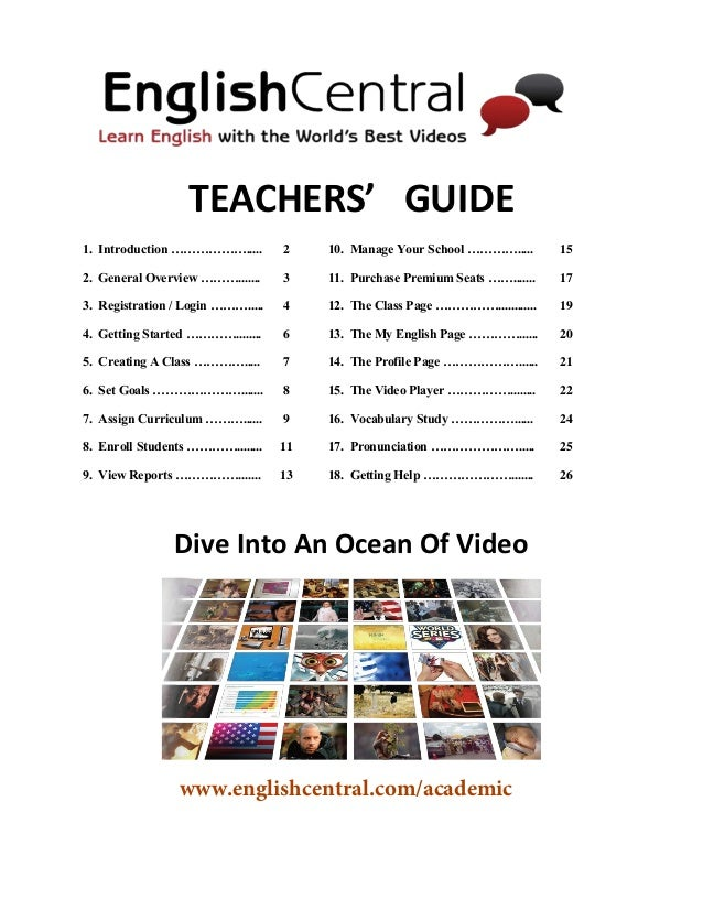 TEACHERS' GUIDE  1. Introduction ………………..... 2 10. Manage Your School …………..... 15  2. General Overview ………....... 3 11. P...