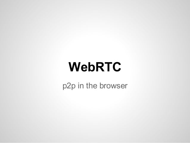 Budapest New Tech Meetup - WebRTC