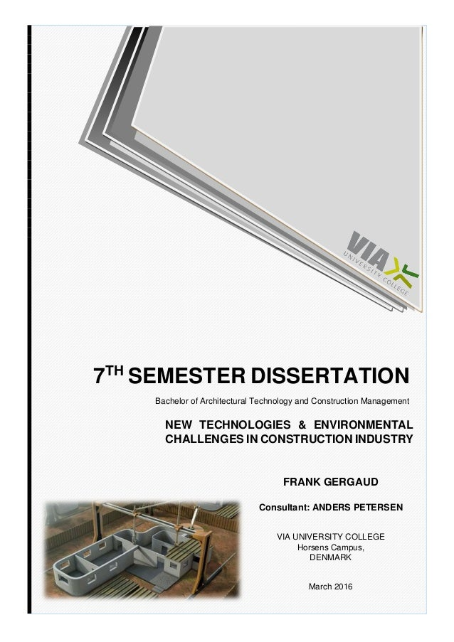 Dissertation on construction industry