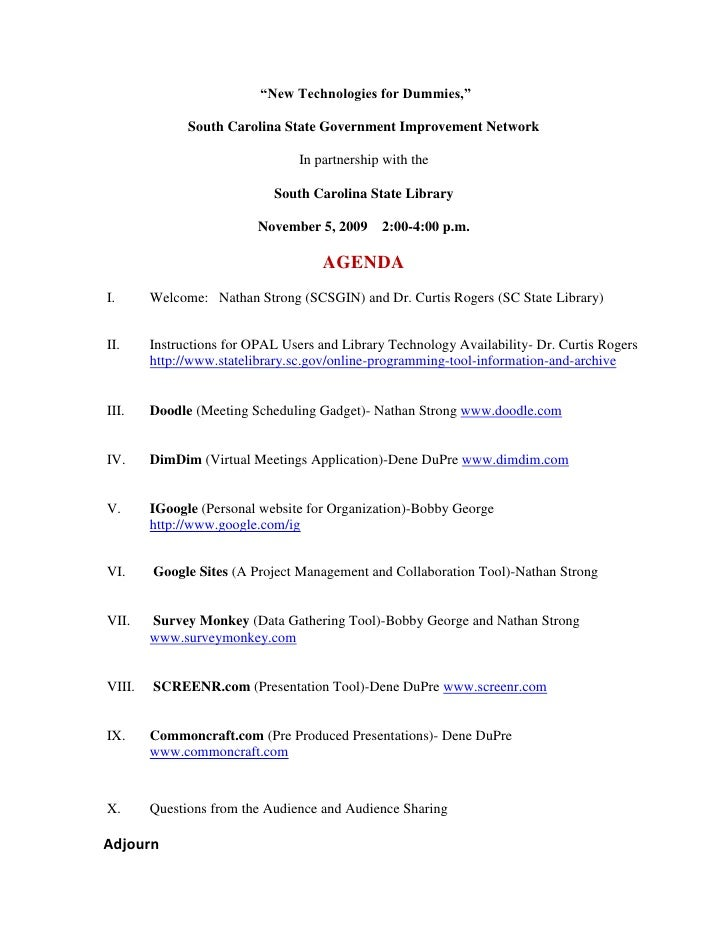 """New Technologies for Dummies,"" <br />South Carolina State Government Improvement Network <br />In partnership with the <..."