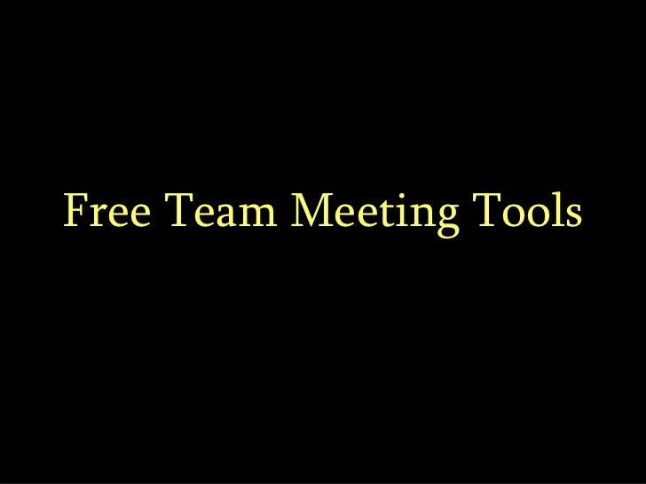 Free Team Meeting Tools