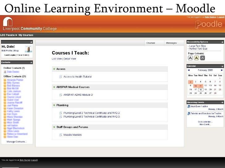Online Learning Environment – Moodle