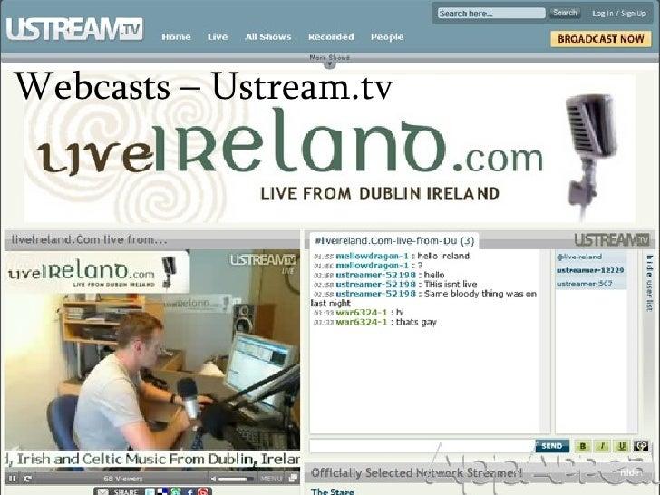 Webcasts – Ustream.tv