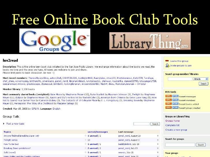 Free Online Book Club Tools