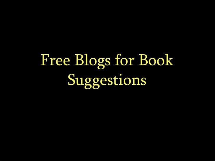 Free Blogs for Book Suggestions