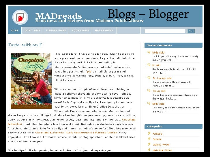 <ul><ul><li>Blogs – Blogger </li></ul></ul>