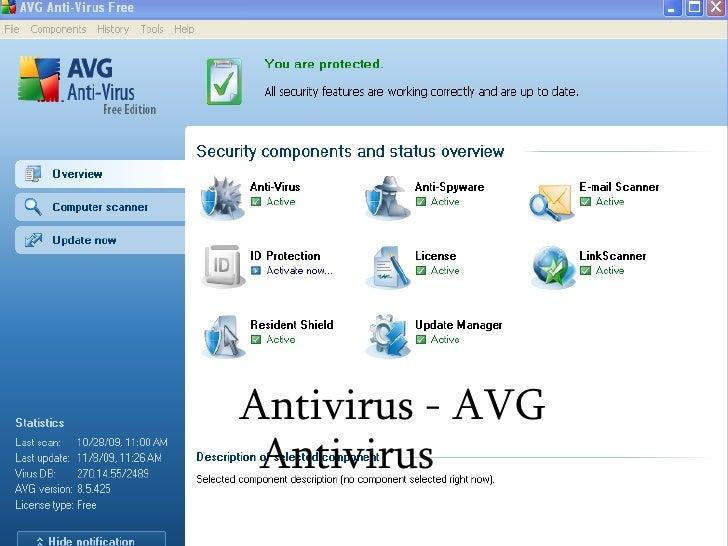 <ul><ul><li>Antivirus - AVG Antivirus </li></ul></ul>