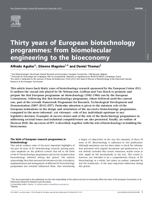 New Biotechnology  Volume 00, Number 00  December 2012                                                                    ...