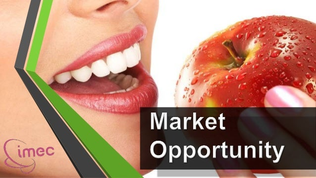 Potential Market•Economic:People are more able to afford their body needs and livea better life, willing to pay for teeth ...