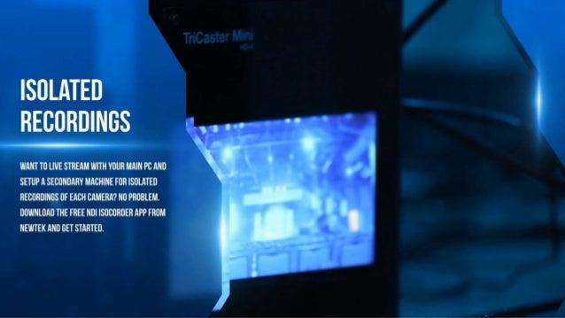 NewTek NDI camera models from PTZOptics