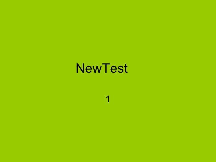 NewTest   1