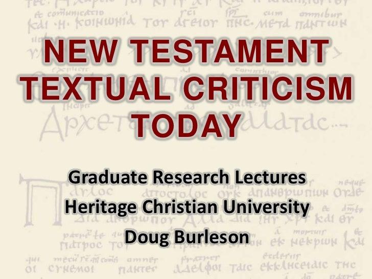 new testament textual criticism pdf