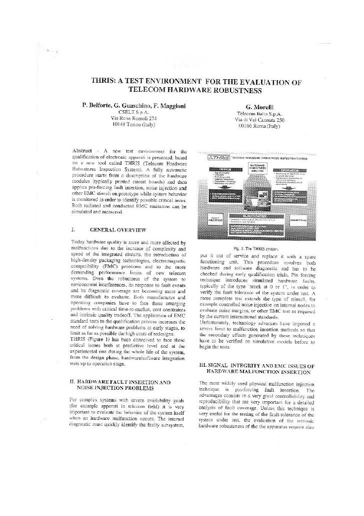 New Test System For Hardware Robustness Evaluation 1998
