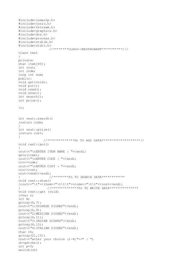 #include<iomanip.h>  #include<conio.h>  #include<fstream.h>  #include<graphics.h>  #include<dos.h>  #include<process.h>  #...