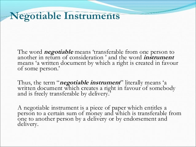 latest case study on negotiable instrument act 1881 Here you can find the mcqs on negotiable instruments act with answers this multiple questions on negotiable instruments act 1881 can be considered for mcq's on business law or mcq's on legal aspect of business for mba, bba, bcom, bcs ect.