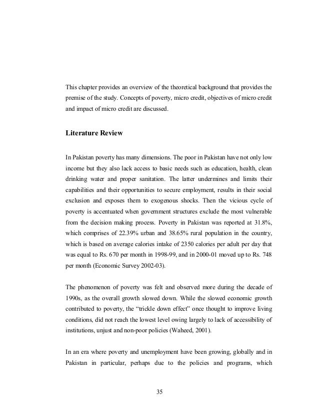 Literature review on poverty and health