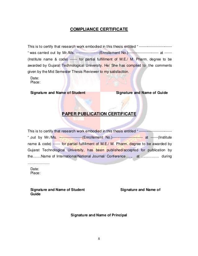 gtu m.pharm thesis guidelines