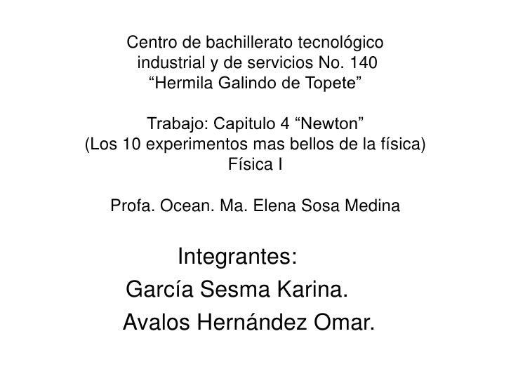 """Centro de bachillerato tecnológico      industrial y de servicios No. 140        """"Hermila Galindo de Topete""""        Trabaj..."""