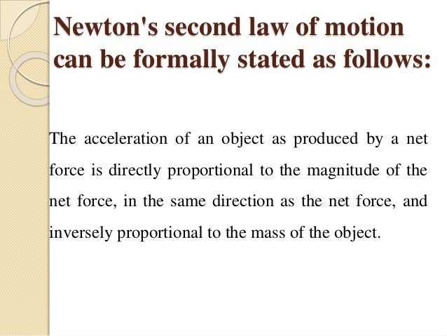 examples of newton s 2nd law