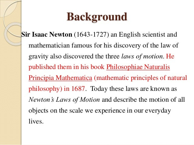 Newton Second Law Of Motion on Forces And Motion