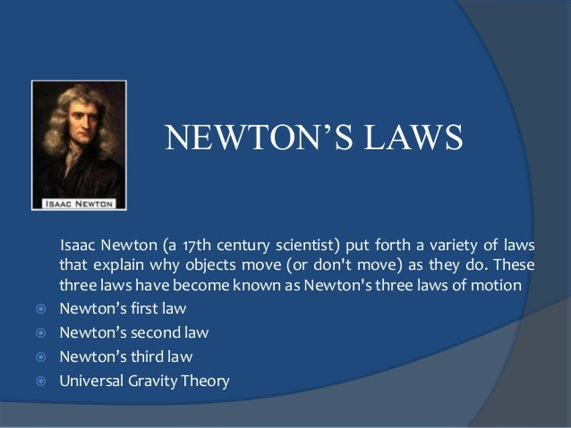 Newton's laws physics and chemistry 4ºA