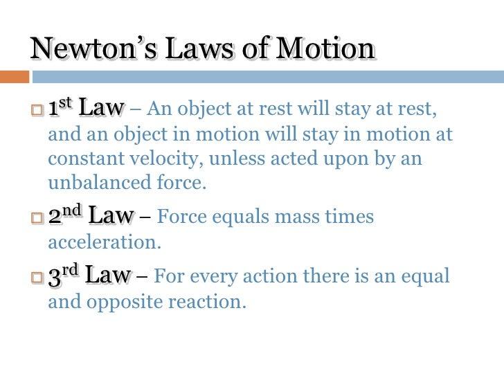3 laws of motion