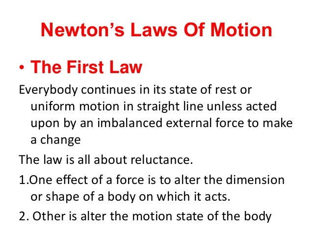 newton s laws of motion lecture notes