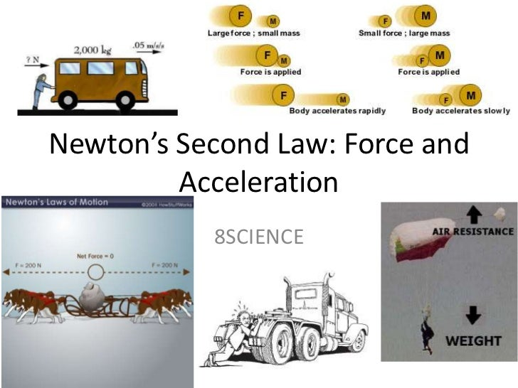 Newton's Second Law: Force and Acceleration<br />8SCIENCE<br />