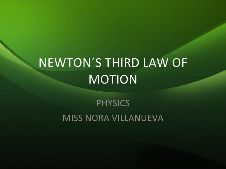 Newton´S Third Law Of Motion