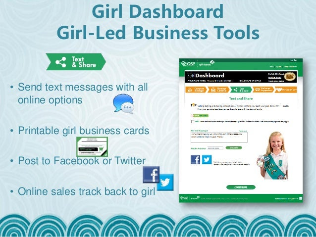 Troop product sale manager training girl scouts of the jersey shore girls easily print personalized business cards colourmoves Image collections