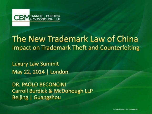 New Trademark Law of China 2014