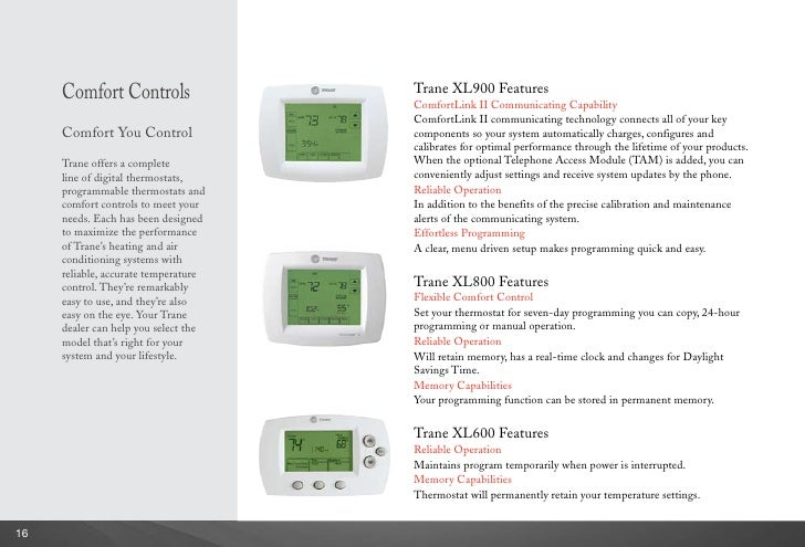 xl900 trane programmable thermostat manual choice image