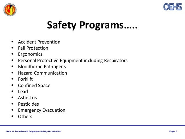 New Transferred Employee Safety Orientation Training by LAUSD