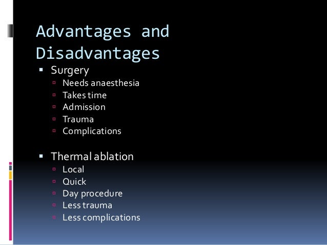 Complications following thermal ablation