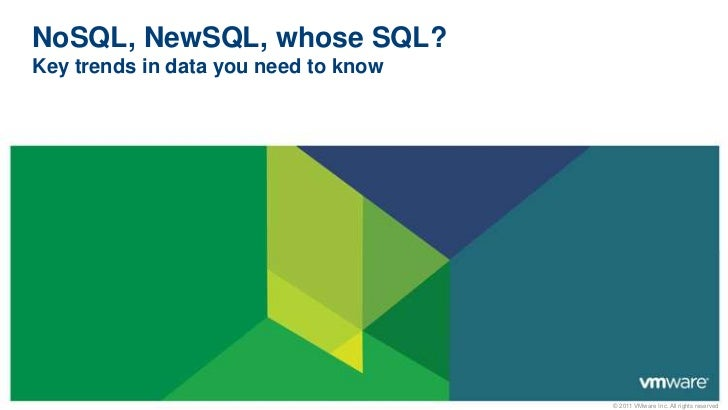 NoSQL, NewSQL, whose SQL?Key trends in data you need to know<br />