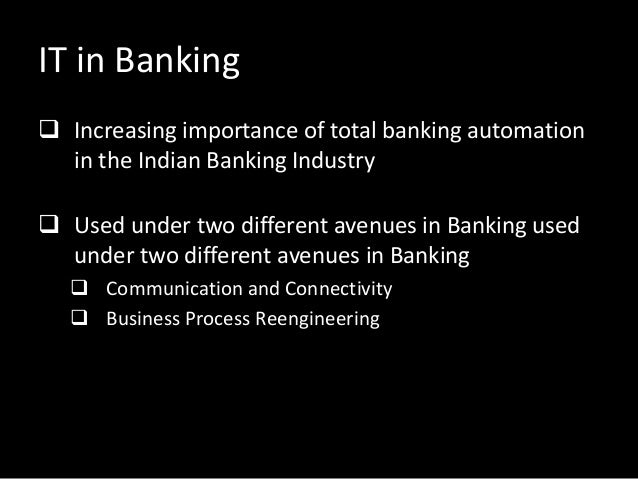 Important of computer in banking sector