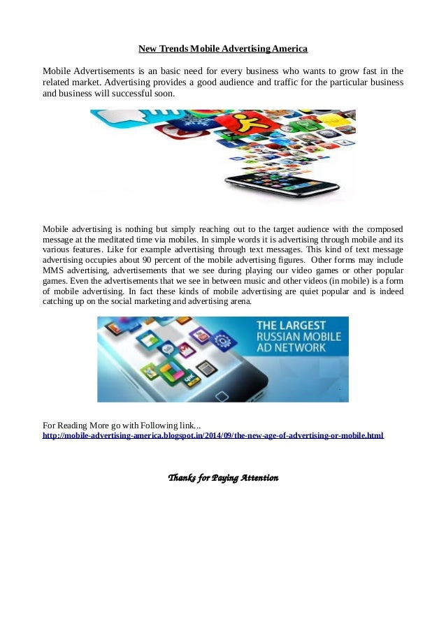 New trends mobile advertising america for Mobili ad trend