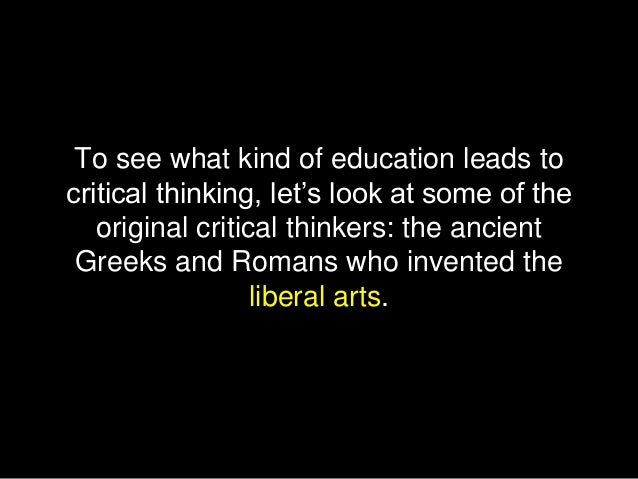 the importance of liberal arts education essay 2016-8-22 please select one of the questions below and write an essay of 400 words or less providing your response jesuit education stresses the importance of the liberal arts.